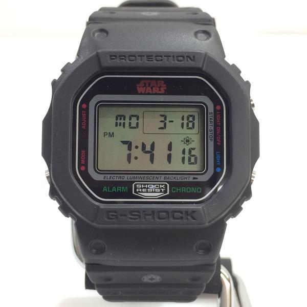 G-SHOCK ジーショック STAR WARS コラボ 腕時計 DW-5600VT CASIO カシオ スターウォーズ ダースベーダーバージョン デジタル クォーツ ブラック メンズ 三国ヶ丘店 269473 【Aランク】 【中古】 RM3463