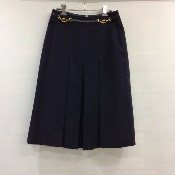 7988a90b94e0 Mikunigaoka shop 358249 RM1049T made in CELINE Celine invert pleated skirt  skirt bottoms navy one point ...