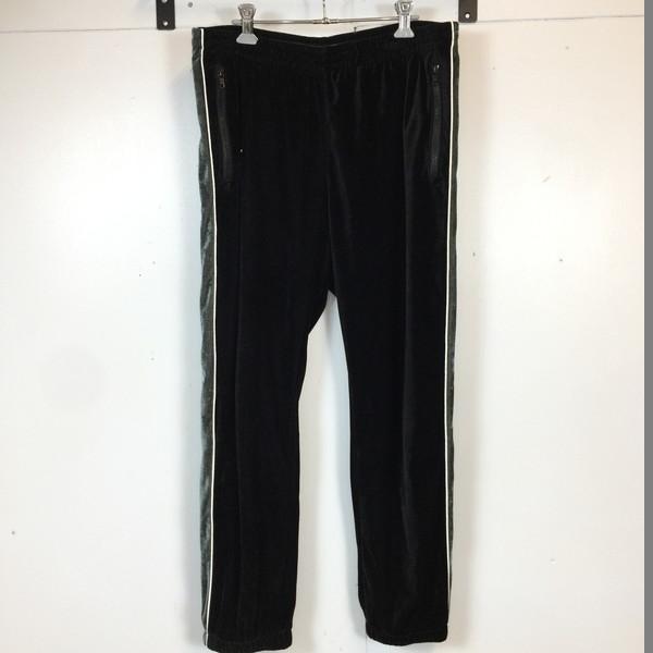 SUPREME シュプリーム 2-Tone Velour pants 16ss ロングパンツ ブラック 黒 black グリーン ライン ボトムス ズボン Lサイズ メンズ 貝塚店 630053 【中古】 RK463J