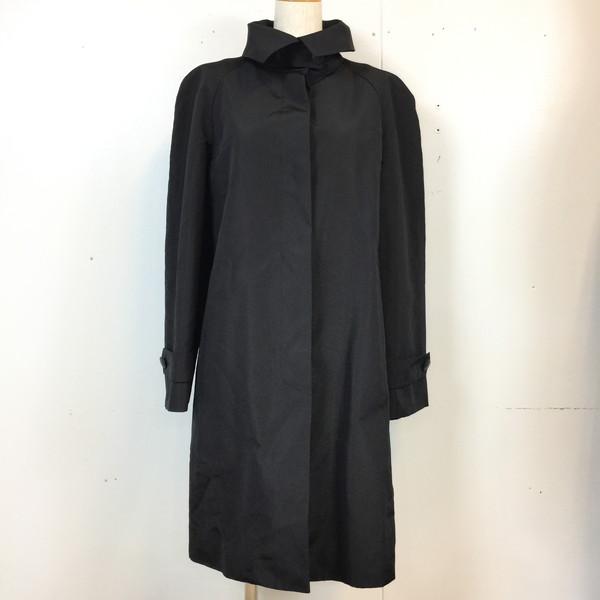 HERMES エルメス 80S コート Coat アウター ロング 80年代 ブラック black 黒 レディース 40 フランス製 貝塚店 648331 【中古】 RK460G