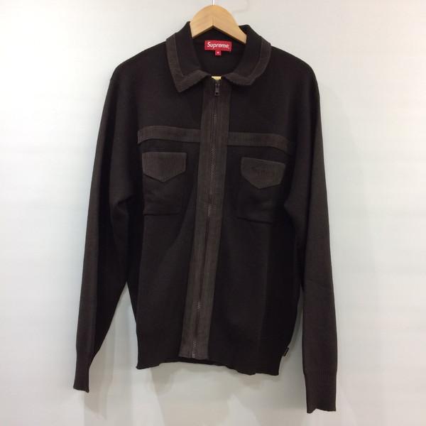 SUPREME シュプリーム Corduroy Detailed Zip Sweater ニット セーター トップス 18AW ブラウン メンズ M 三国ヶ丘店 344846 【中古】 RM1089T