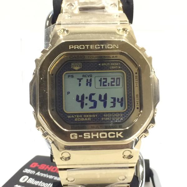G-SHOCK ジーショック 35周年 腕時計 GMW-B5000TFG-9JR CASIO カシオ フルメタル ステンレス 時計 タフソーラー デジタル スクリューバッグ ゴールド メンズ 三国ヶ丘店 372344 【Aランク】 【中古】 RM3114