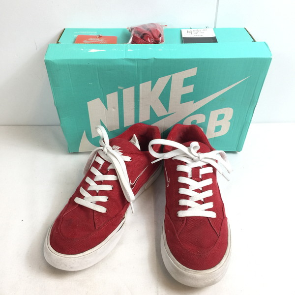 SUPREME シュプリーム NIKE SB GTS QS 801621-661 15SS スニーカー コラボ ナイキ 靴 クツ くつ 白 ホワイト RED 赤 レッド メンズ 26.5cm INDONESIA製 貝塚店 658477 【中古】 RK526J