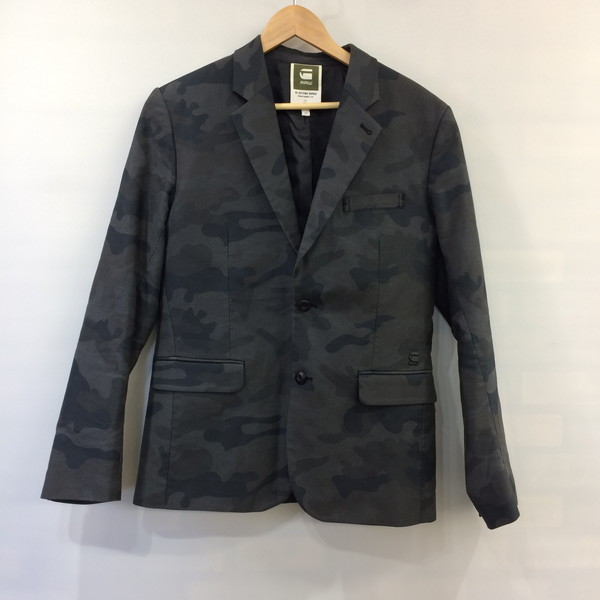 1c7480144cce4 46 G-STAR ジースターテーラードジャケット OMEGA CAMO BLAZER outer jacket gray camouflage  pattern men ...