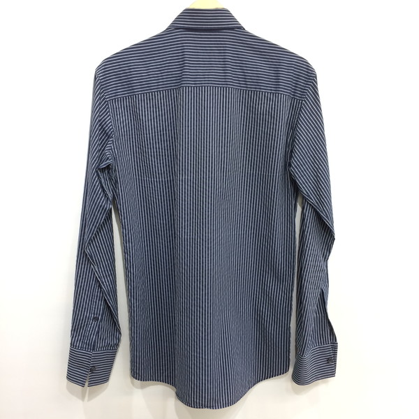 be77232374 Ermenegildo Zegna Ermenegildo Zegna stripe shirt long sleeves cotton tops  white blues tripe men S-M size Mikunigaoka store 317796 RM3577