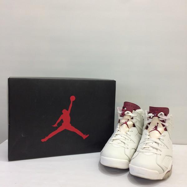 hot sale online 95674 fc74c 384664 NIKE Nike Air Jordan 6 Retro MAROON nostalgic 116 higher frequency  elimination white reddish brown men 27.5cm Mikunigaoka store 432895 RM1401T