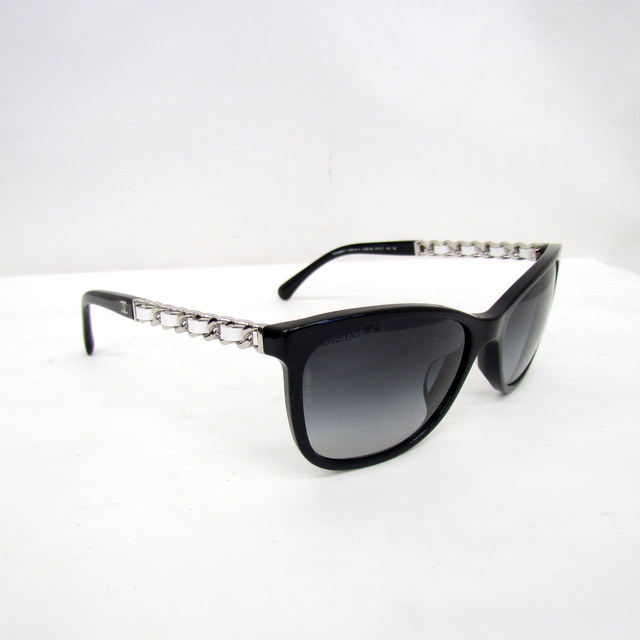 los angeles 100% quality united states Higashiosaka shop 328552 RYB2587 made in eyewear Italy with the CHANEL  Chanel sunglasses chain black black white white silver 5260-Q-A 57 □ 17  here ...
