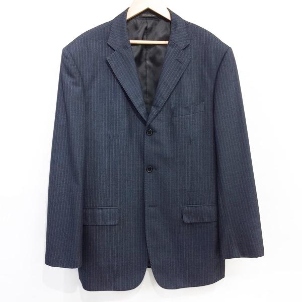 a777aa37c8 Ermenegildo Zegna Ermenegildo Zegna single 3B setup suit jacket underwear  navy stripe men Mikunigaoka store 353879 RM3734