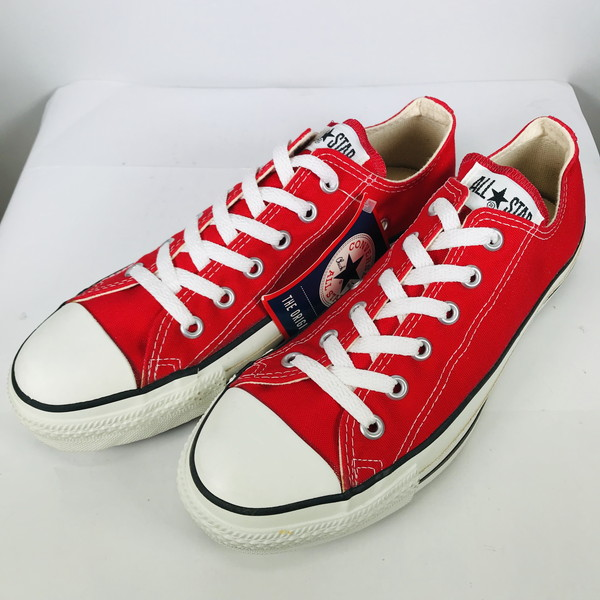 Product made in CONVERSE Converse 90's ALL STAR LOW RED dead stock NOS red red men US8 USA free vintage Mikunigaoka shop 496378 RM1001H