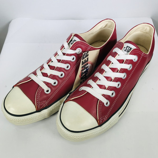 Product made in CONVERSE Converse 90's ALL STAR LOW LEATHER dead stock NOS red men US8 USA free vintage Mikunigaoka shop 496408 RM998H