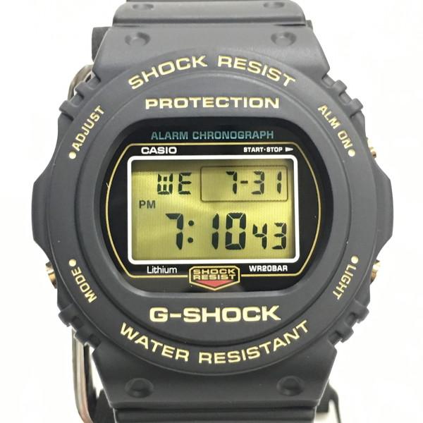 G-SHOCK ジーショック 腕時計 DW-5735D-1BJR CASIO カシオ 35th Anniversary 35周年記念モデル 未使用 クォーツ スクリューバック デジタル ブラック ゴールド メンズ 三国ヶ丘店 504431 【Aランク】 【中古】 RM0155D