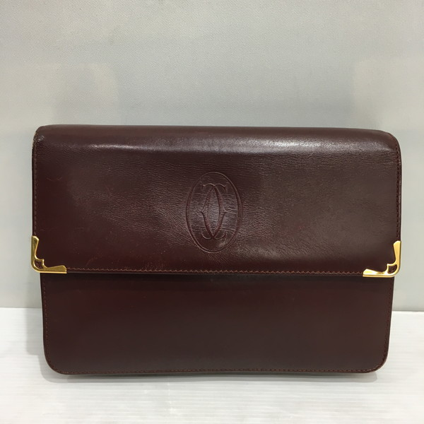 Cartier カルティエ セカンドバッグ マストライン 鞄 バッグ ボルドー レディース ヴィンテージ 三国ヶ丘店 556430 【中古】 RM2217T