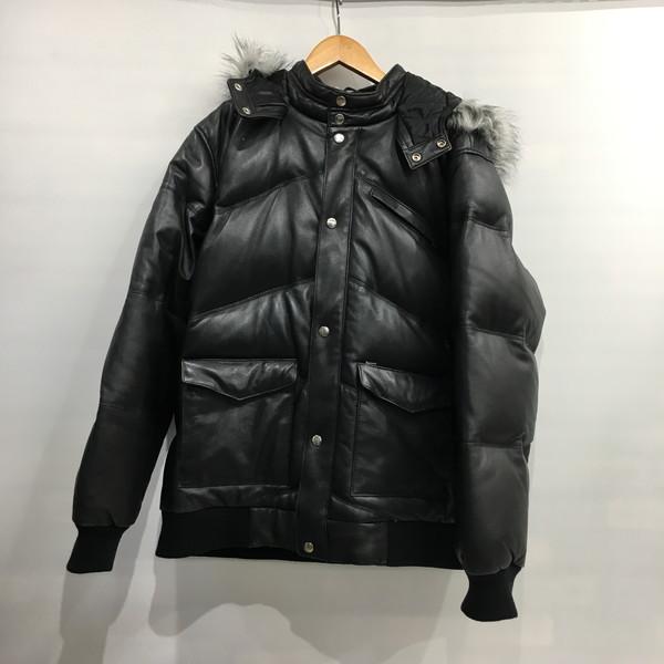 Supreme シュプリーム レザーダウンジャケット Leather down jacket 07AW アウター ファー付き ブルゾン ブラック メンズ XL 三国ヶ丘店 561922 【中古】 RM2261T
