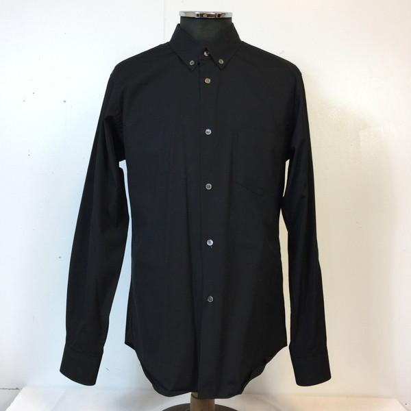 COMME des GARCONS SHIRT コムデギャルソン BDシャツ CDGS6PL ボタンダウン ブラック black 黒 メンズ L フランス製 貝塚店 809299 【中古】 RK1147G