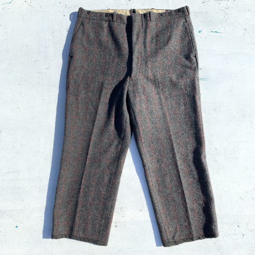 Woolrich ウールリッチ 50's Malone Wool Trousers ウールパンツ グレー チェック メンズ W40位 USA製 ヴィンテージ 三国ヶ丘店 331167 【中古】 RM1083H