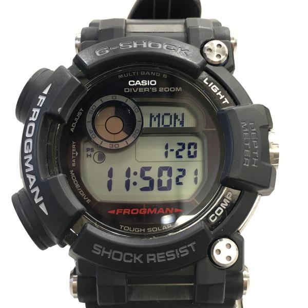 G-SHOCK ジーショック 腕時計 GWF-D1000-1JF CASIO カシオ FROGMAN フロッグマン タフソーラー デジタル ダイバーズ ウォッチ ブラック メンズ 三国ヶ丘店 626225 【中古】 RM0527D