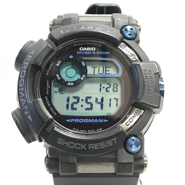 G-SHOCK ジーショック 腕時計 GWF-D1000B-1JF CASIO カシオ FROGMAN フロッグマン マスターオブG デジタル 電波ソーラー タフソーラー ブラック メンズ 三国ヶ丘店 630253 【中古】 RM0543D