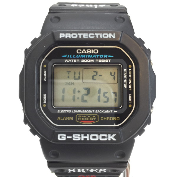 CASIO G-SHOCK カシオ ジーショック 腕時計 DW-5600 SR'ES 9th 9周年 リミテッドモデル コラボ 2001 ウォッチ 小物 ブラック black 黒 メンズ ケース 3.5×3.2cm 日本製 貝塚店 854718 【中古】 RK1496G