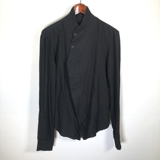 JULIUS ユリウス 15AW Covered shirt 517SHM3 カバードシャツ sphere; ブラウス ジャケット トップス 比翼 ブラック メンズ 1 日本製 三国ヶ丘店 637252 【中古】 RM0817I
