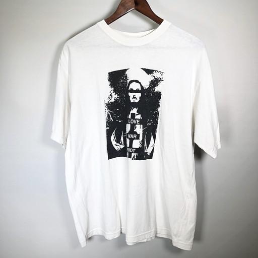 UNDERCOVERISM アンダーカバー 05SS LOVE WAR RIOT Tシャツ but beautiful 2期 カットソー トップス ホワイト ブラック メンズ LARGE 三国ヶ丘店 639867 【中古】 RM0829I