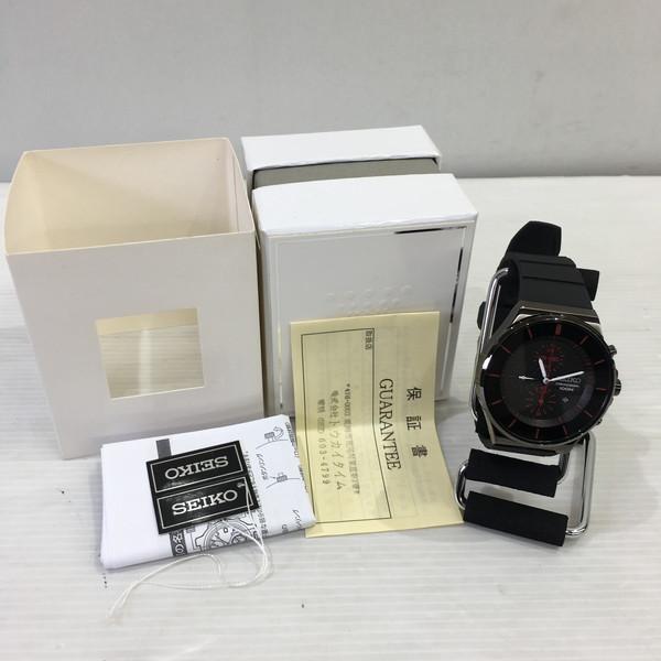 SEIKO セイコー NEO SPORTS CHRONOGRAPH 7T92-0NG0 腕時計 ウォッチ ブラック メンズ 三国ヶ丘店 666771 【中古】 RM4502
