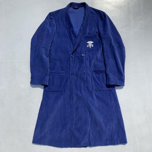 50's U S ARMY MEDICAL CORPS コーデュロイ バスローブ ホスピタル ブルー 刺繍 メンズ MEDIUM USA製 ヴィンテージ 三国ヶ丘店 669291RM1261HuTlF3K5J1c