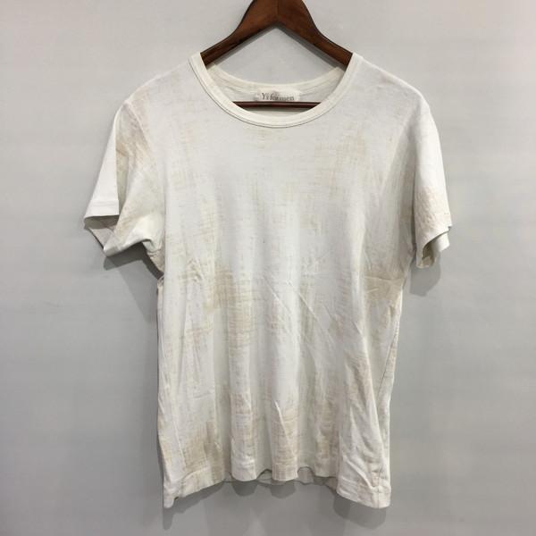 Y's for 4年保証 men 超定番 2000s かすれプリントカットソー Tシャツ Yohji Yamamoto Pour Homme ヨウジヤマモトプールオム トップス 日本製 ワイズフォーメン ホワイト 3 中古 三国ヶ丘店 486980 RM4526 メンズ