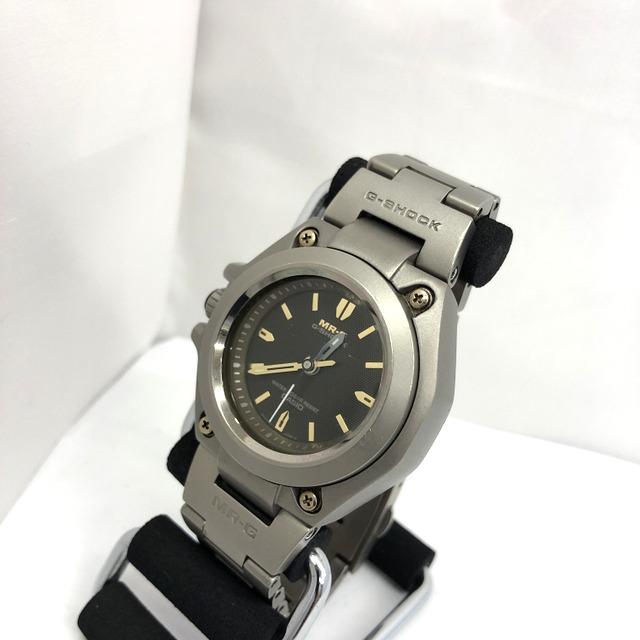 G-SHOCK ジーショック CASIO カシオ 腕時計 MRG-120T MR-G アナログ クォーツ シルバー チタン メンズ ビジネス T東大阪店 431399【中古】 RY3111