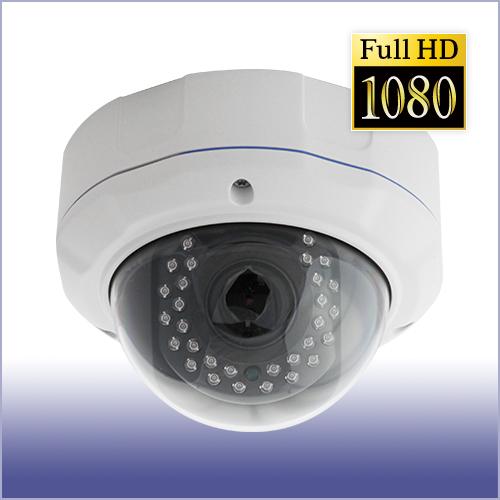防犯カメラ AHD2.0/アナログ兼用 屋外防滴赤外線照射付 耐衝撃ドームカメラ