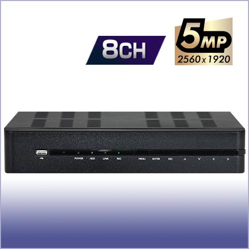 防犯録画機 AHD5.0 デジタルビデオレコーダー【8CH・2TB】 台湾ブランド