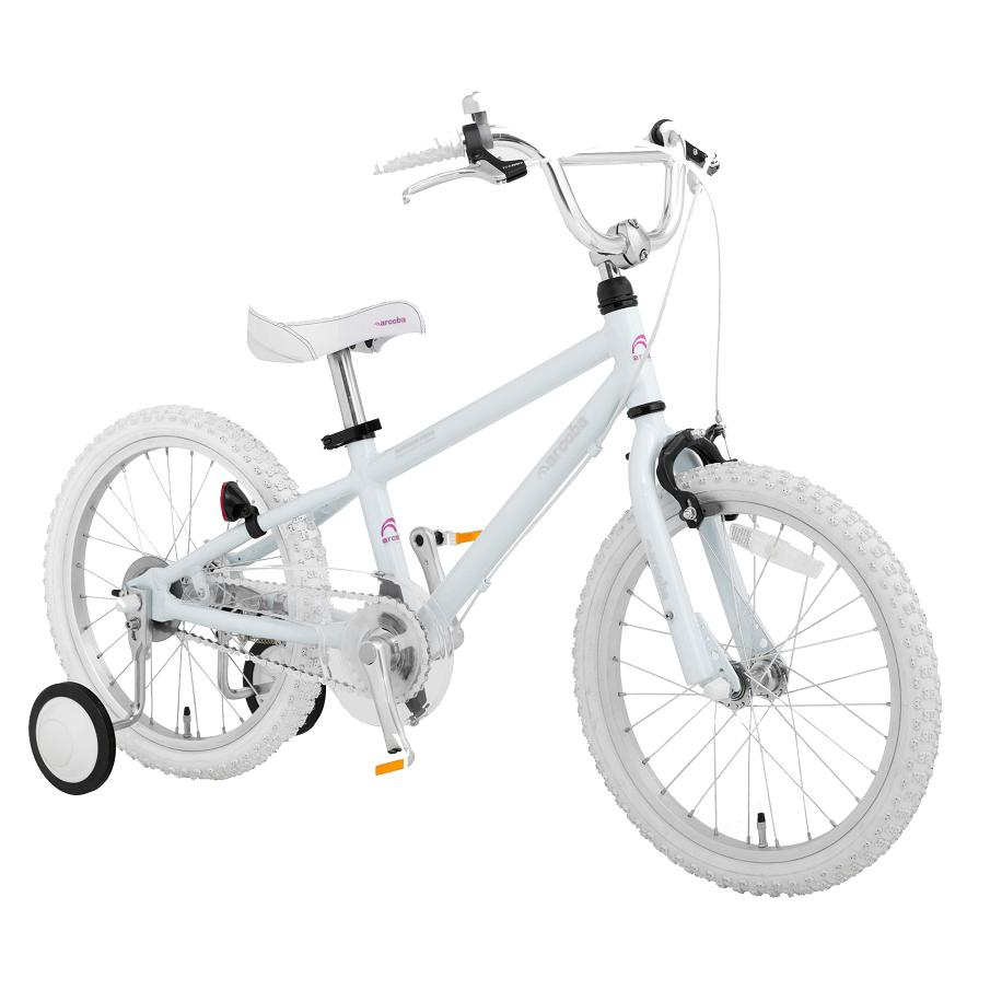 ◆ arcoba ◆ alcoba 18 inch infant car TEKTRO brake-white parts model of high-quality children's bicycle car shipping embedded auxiliary circle with fs3gm