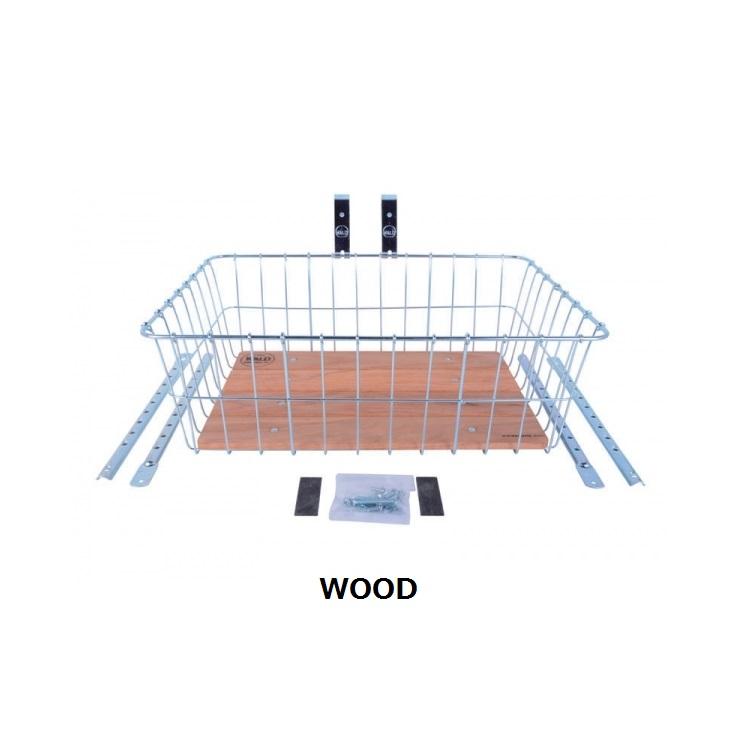 【送料無料】自転車用 前カゴ WALD 1392 Front Basket 自転車 重い荷物を積めるビッグサイズ クルーザー 折りたたみ自転車 ファットバイクに最適 WOODY