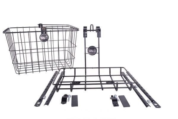 【送料無料】自転車用 前カゴ WALD 3339 Front Basket & Rack Combo 自転車 重い荷物を積めるビッグサイズ クルーザー 折りたたみ自転車 ファットバイクに最適レインボーRAINBOW