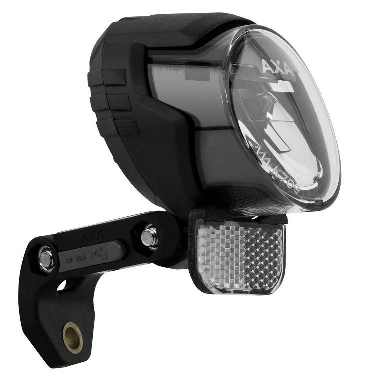 AXA Luxx70 Plus 6V-3Wハブダイナモ専用 フランス製 ルクス70プラス ライト ルクス 70 プラス axa LED ヘッドライト USB スマホ 自転車 ダイナモ 送料無料 アクサ ★新