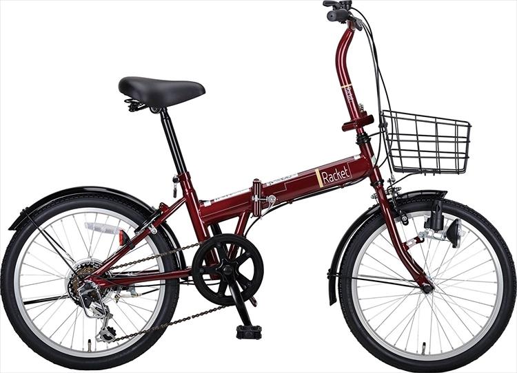 CAPTAIN STAG ラケット 20インチ 折りたたみ自転車 FDB206 ダークブルー [ シマノ6段変速 / ダイナモライト / バスケット / 前後泥よけ ] 標準装備 キャプテンスタッグ折畳 折り畳みCAA