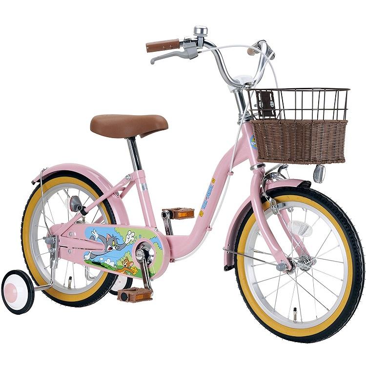 子供用自転車 16インチ WB トム&ジェリーキッズバイシクル トム ジェりー キャプテンスタッグ CAPTAIN STAG かわいい かっこいい おしゃれ 迷彩 カモフラ 女の子 男の子 ブランド YG-288 ピンク YG-289 ブルーCAA