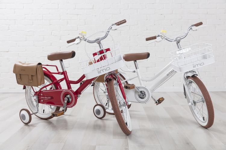 iimo 18インチ 子供用 自転車 前カゴ 消音補助輪 ポシェットにもなるオリジナルバッグ付 JP8710 JP8711 キッズ 幼児車 イイモ