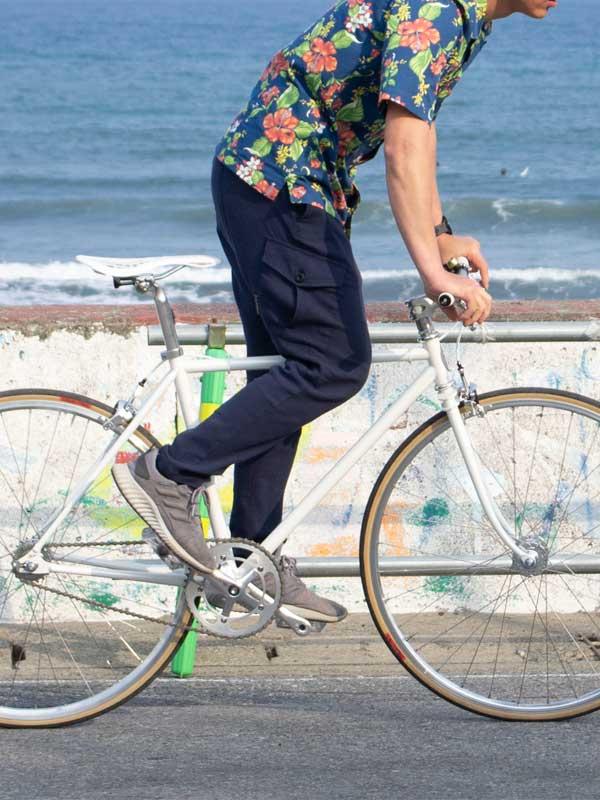 リンプロジェクト 【ステテコロングパンツ】通気 吸汗 速乾 ストレッチ 楊柳(ようりゅう) 日本製 No.3154 綿100 サイクリング ウェア rin project