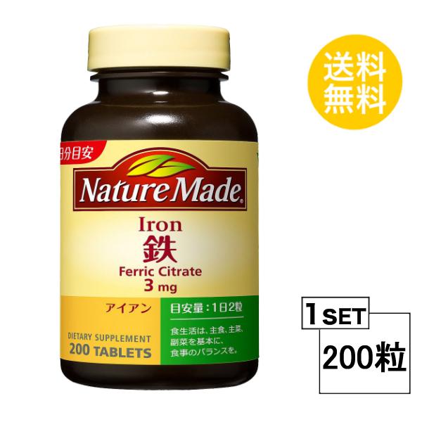【送料無料】 ネイチャーメイド 鉄(アイアン) ファミリーサイズ 100日分 (200粒) 大塚製薬 サプリメント nature made