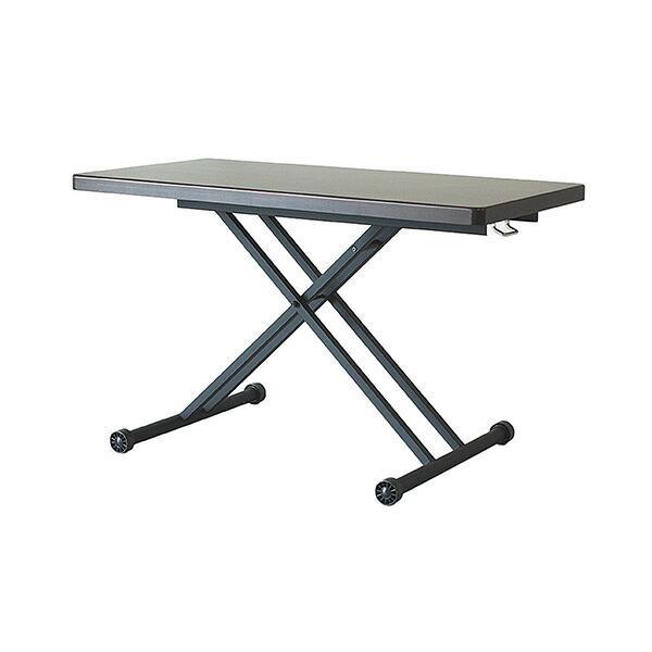 【送料無料】 アルダー リフティングテーブル ブラウン 昇降テーブル 昇降式 ダイニングテーブル 木製 リフトテーブル 北欧