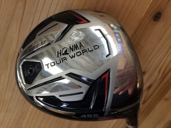 【決算特価】本間ゴルフ ドライバー TOUR WORLD TW737 455 9.5度 純正カーボン VIZARD EX-Z75 X メンズ 中古 ゴルフクラブ