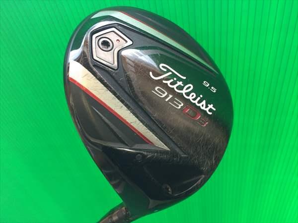 タイトリスト ドライバー 913 D3 9.5度 Diamana ディアマナ B60 S グリップ使用感あり メンズ 中古 ゴルフクラブ