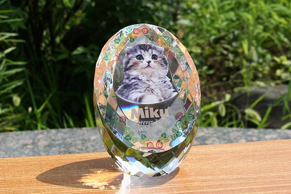 メモリアル ペット位牌 ペット仏具 【エッグカラー】サイズL 位牌 仏具 思い出 犬 猫 小動物 写真 供養 記念品