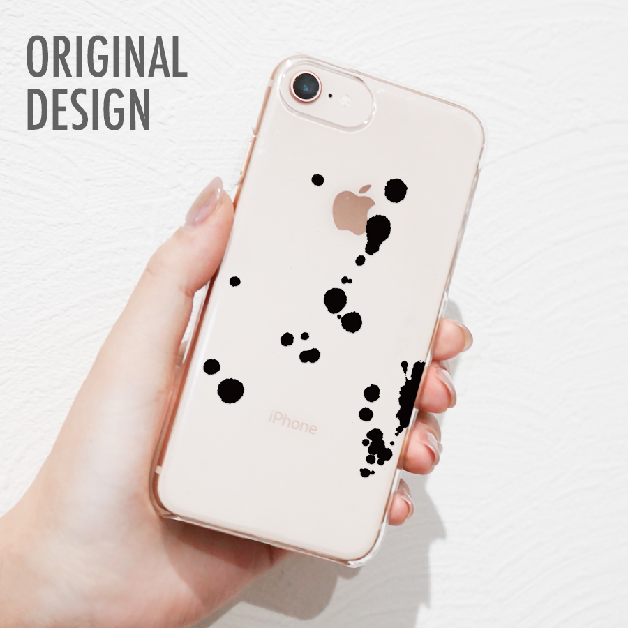 オリジナルデザイン スマホケース 今季も再入荷 メール便 送料無料 多機種対応 iPhone 記念日 Xperia AQUOS アイフォン 墨柄デザイン 斑点 アローズ Arrows アクオス エクスペリア