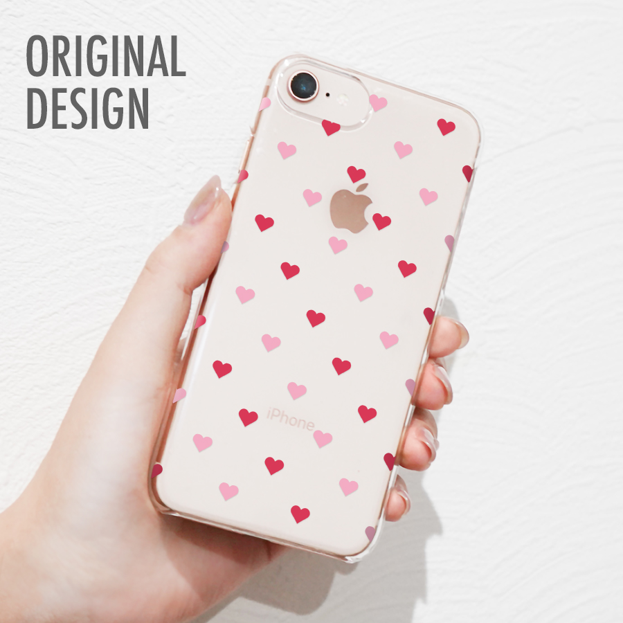 オリジナルデザイン スマホケース メール便 送料無料 多機種対応 iPhone Xperia AQUOS 赤 アクオス エクスペリア ハート柄デザイン ※ラッピング ※ 新色追加して再販 アイフォン Arrows アローズ