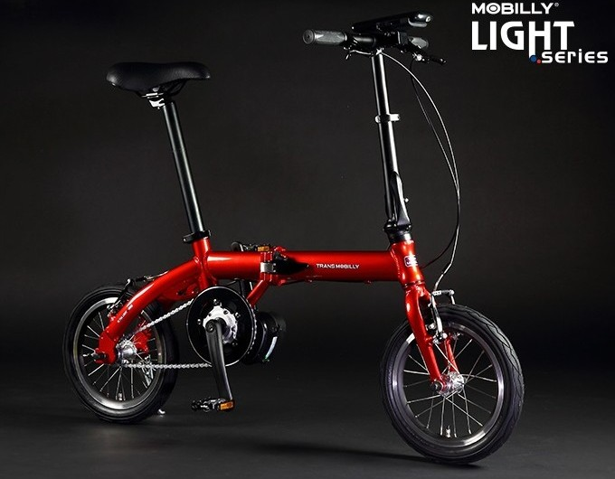 TRANS MOBILLY ULTRA LIGHT E-BIKE 14インチ 電動アシスト自転車 折りたたみ自転車 【送料無料】