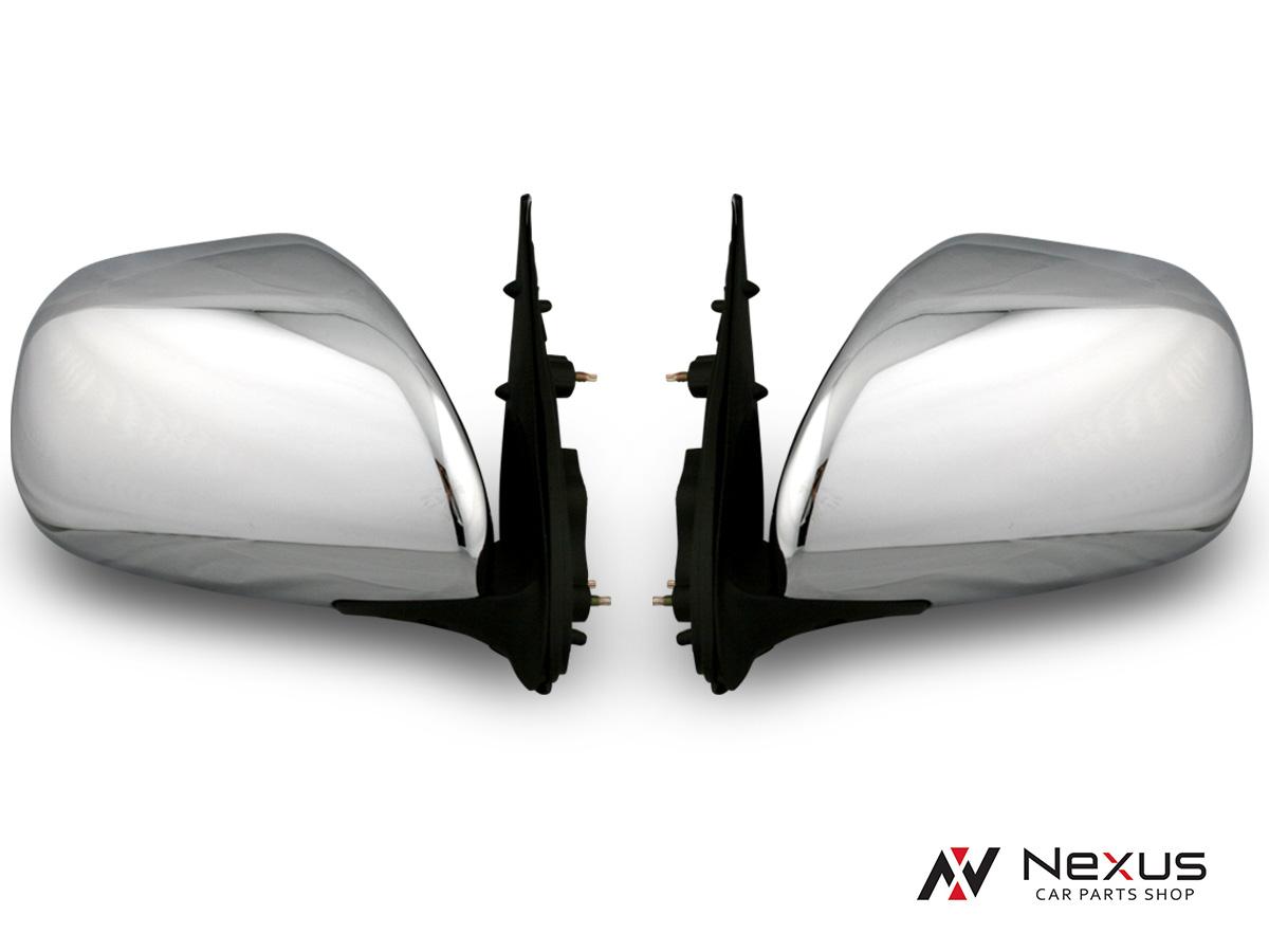 ハイエース 200系 レジアスエース S-GL 4型 純正タイプ 電動格納/電動調整 ディフューザー付きメッキドアミラー 左右セット