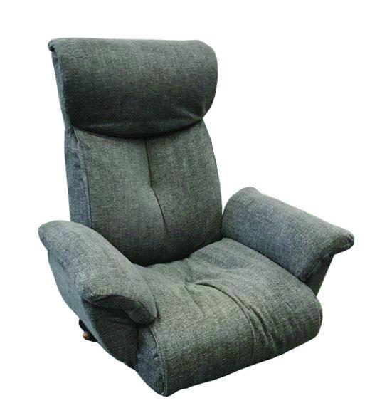 【送料無料】肘付き回転機能付ガス圧式レバー座椅子 / GLK-クロードDBR [明光ホームテック]