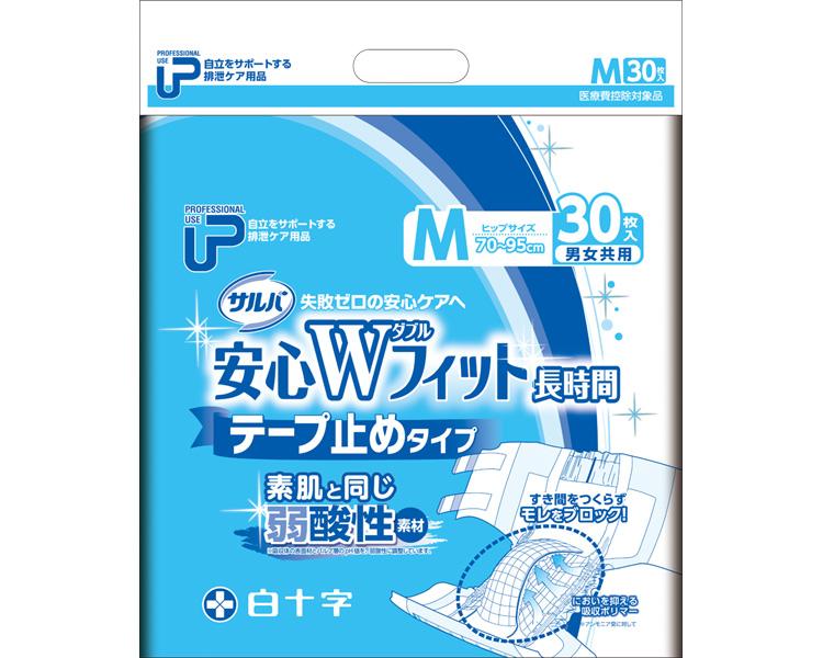 P.U サルバ安心Wフィット M/ 35595 30枚×2袋[ 白十字 株式会社 ]