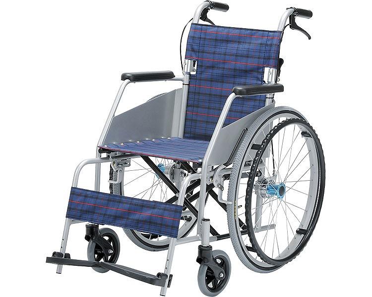 【送料無料】介助車椅子 KARL カール・コンパクト KW-801/ 座幅40cm 濃紺[ 片山車椅子製作所 ]